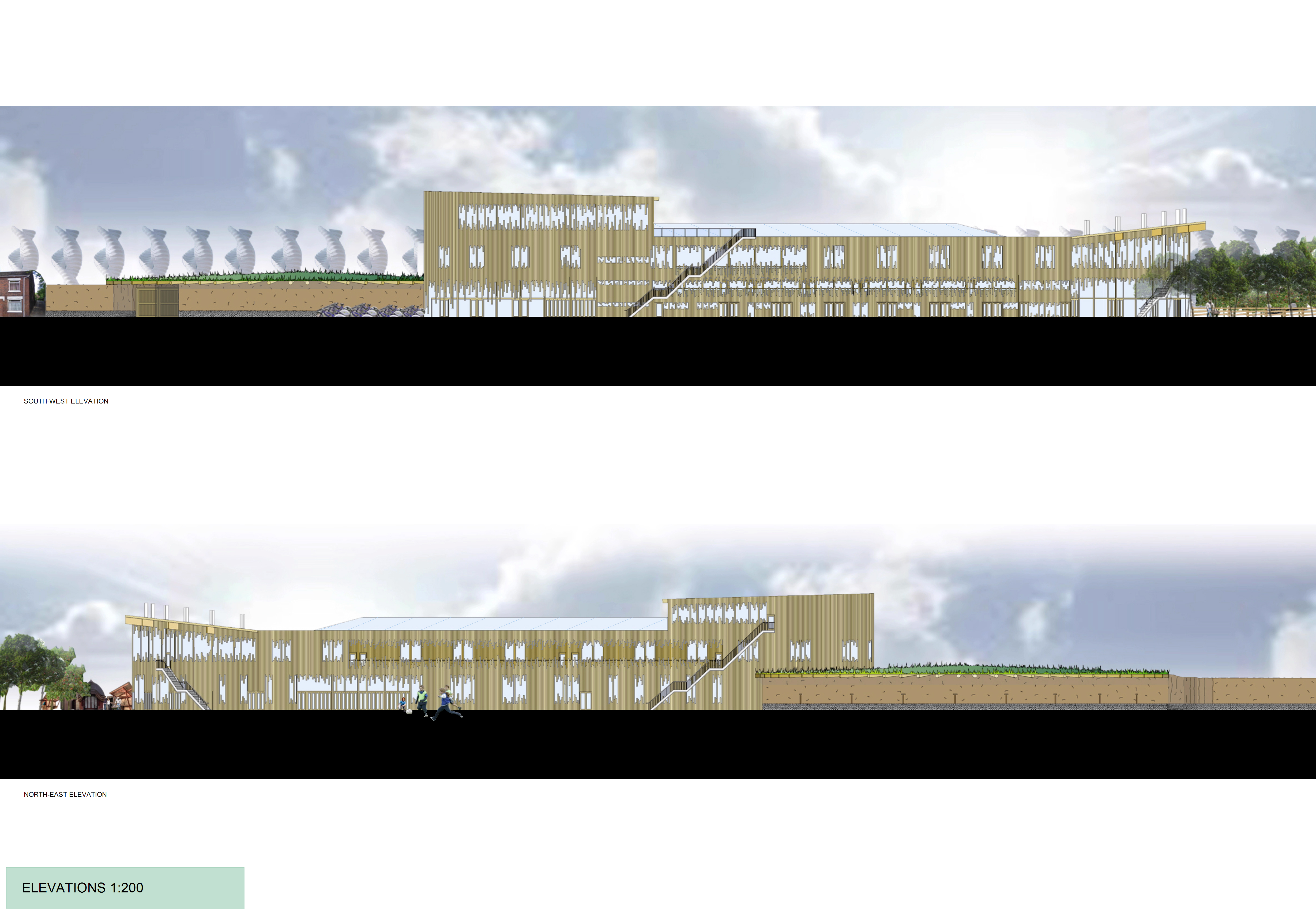 Stoke Sustainability College Elevations 1