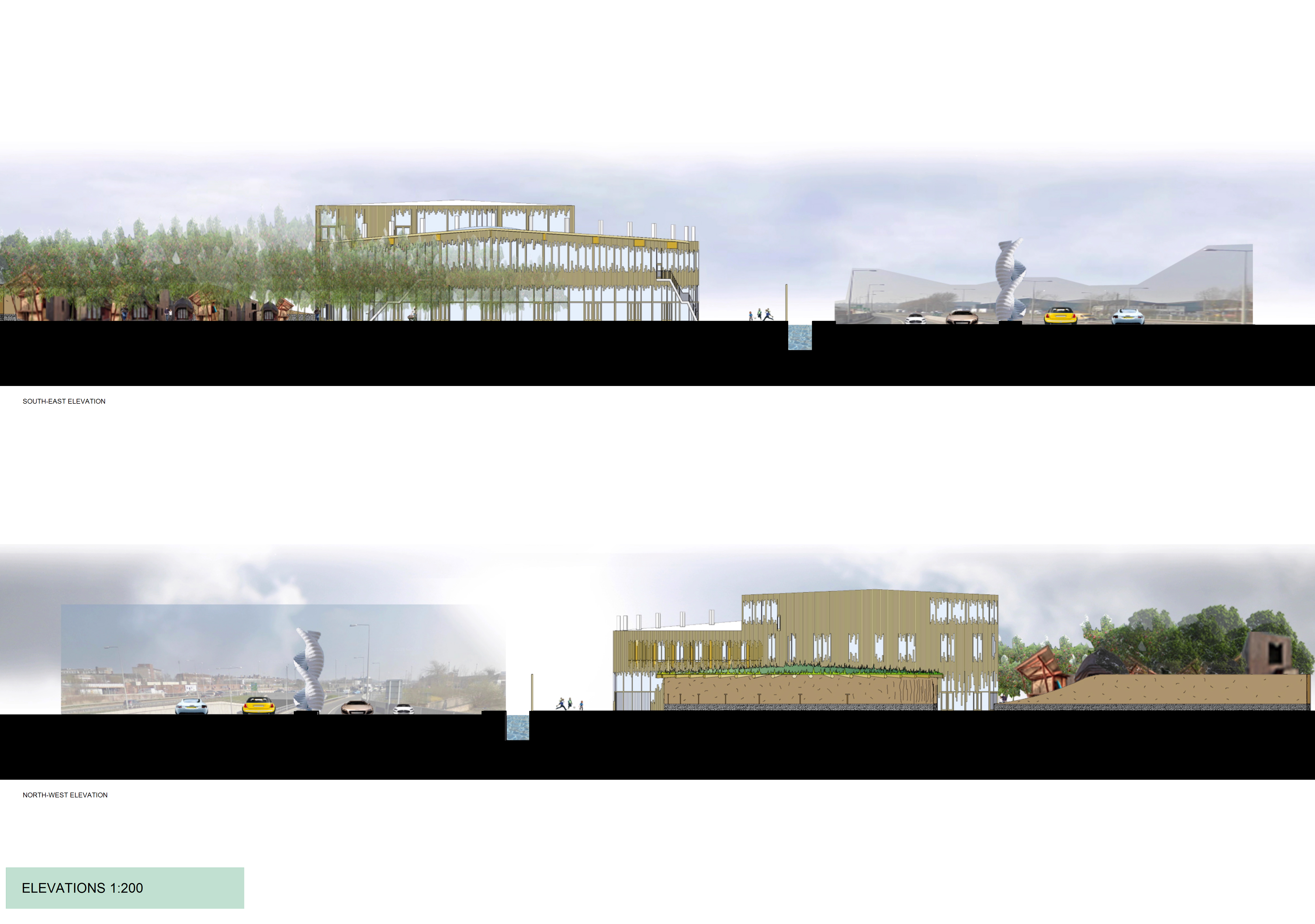 Stoke Sustainability College Elevations 2