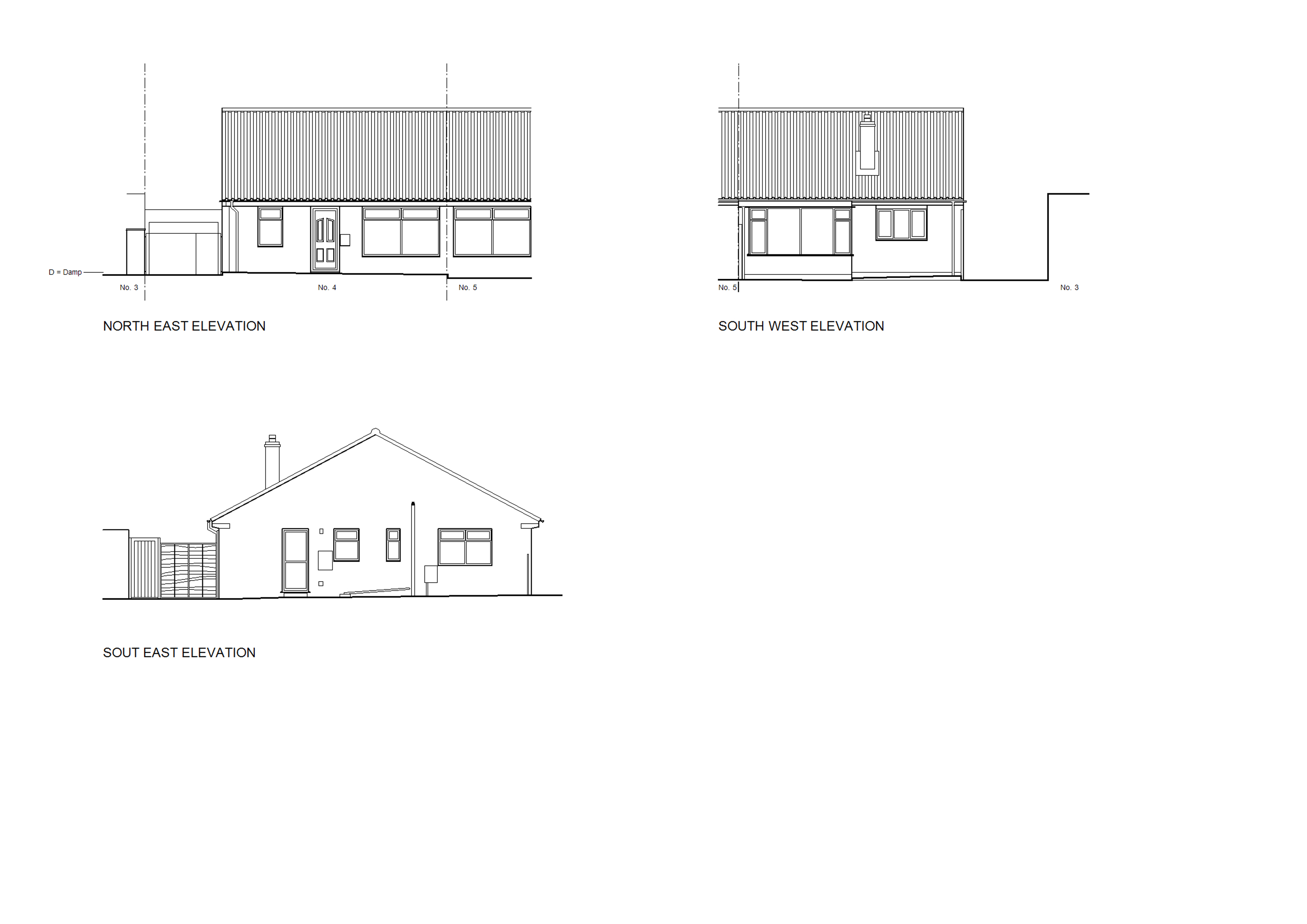 4 The Hollies Clehonger Existing Elevations