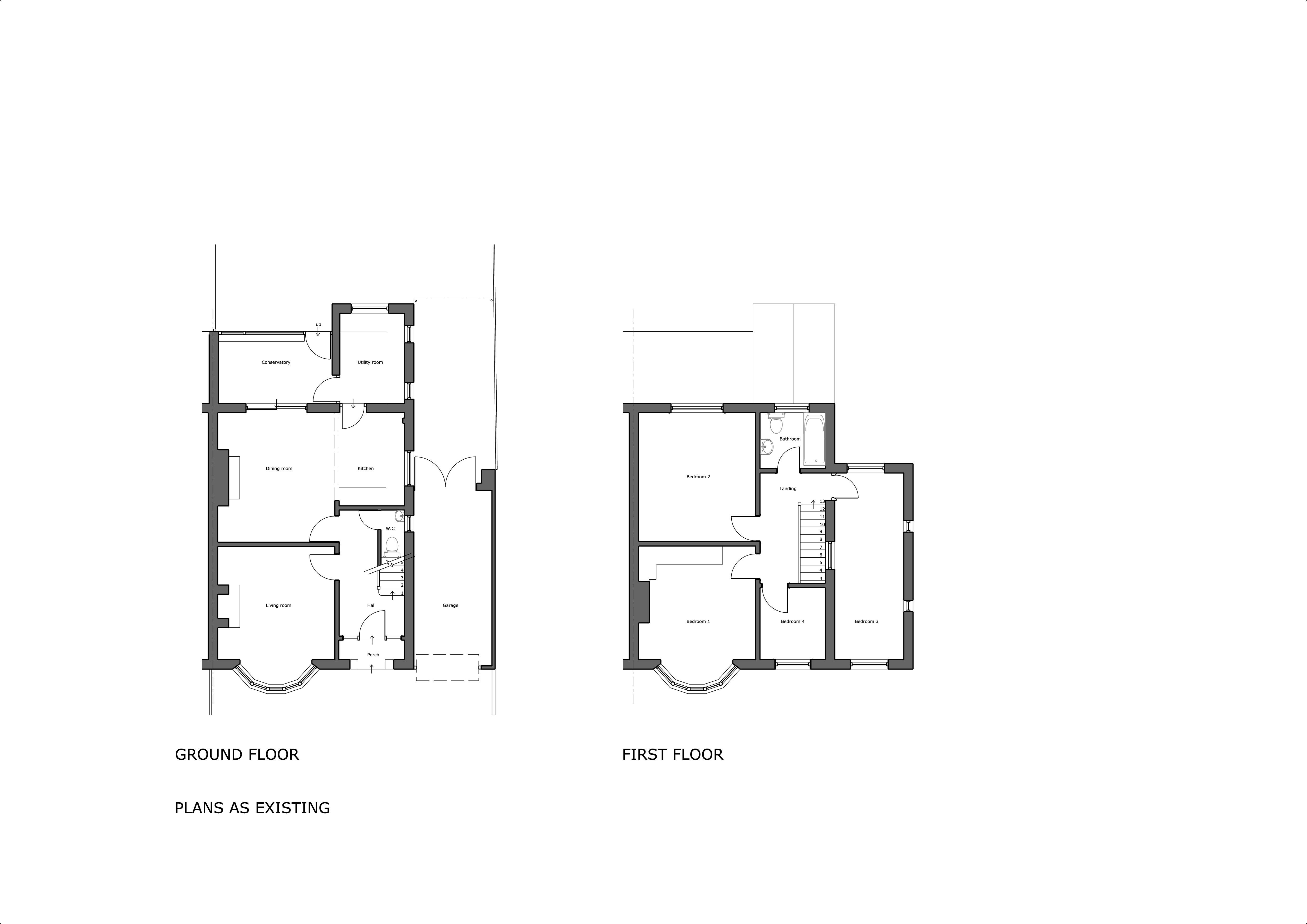 255 Ledbury Rd Existing Plans