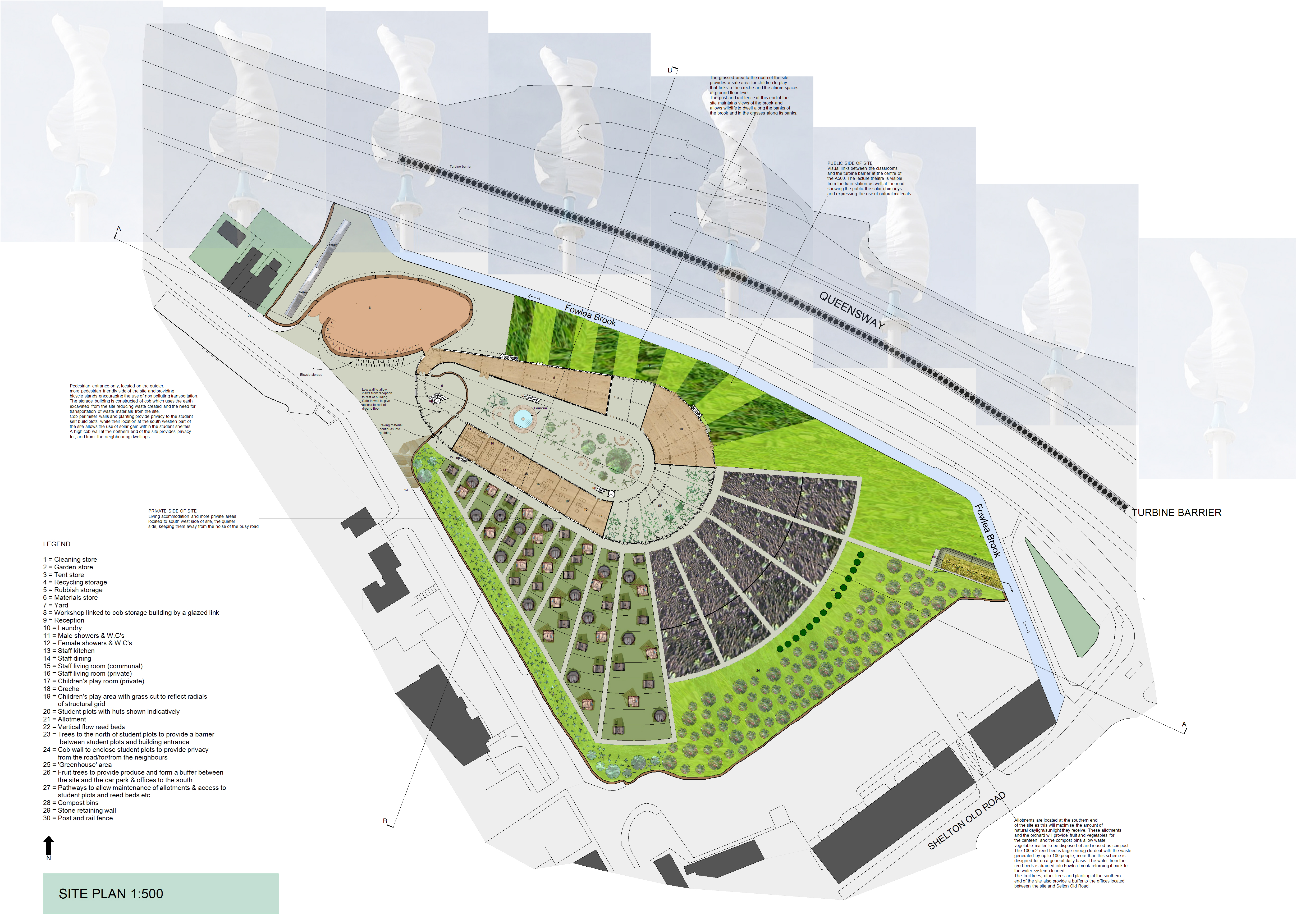 Stoke Sustainability College Site Plan