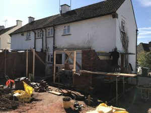Brick single storey extension