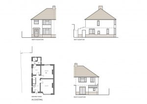 Single storey extension to a house