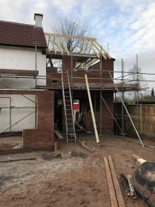 Rear of 2 storey side extension