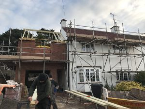 2 storey side extension to a house in the UK