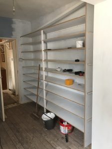 Dressing room - shelves for shoes!