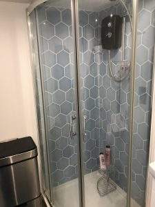 Garage conversion - Shower.